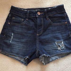 Arizona dark wash high waisted shorts